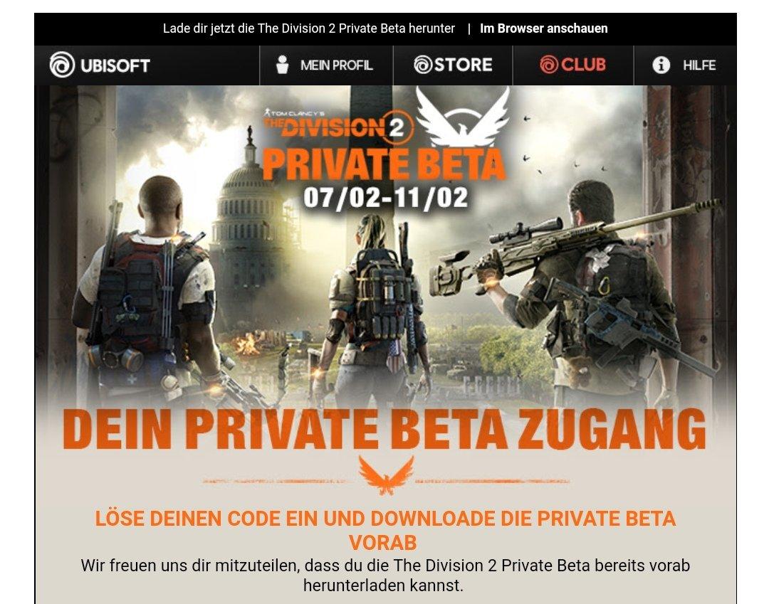 Let's go!! Division 2 Beta code bekommen 😘💋 Tweet added by