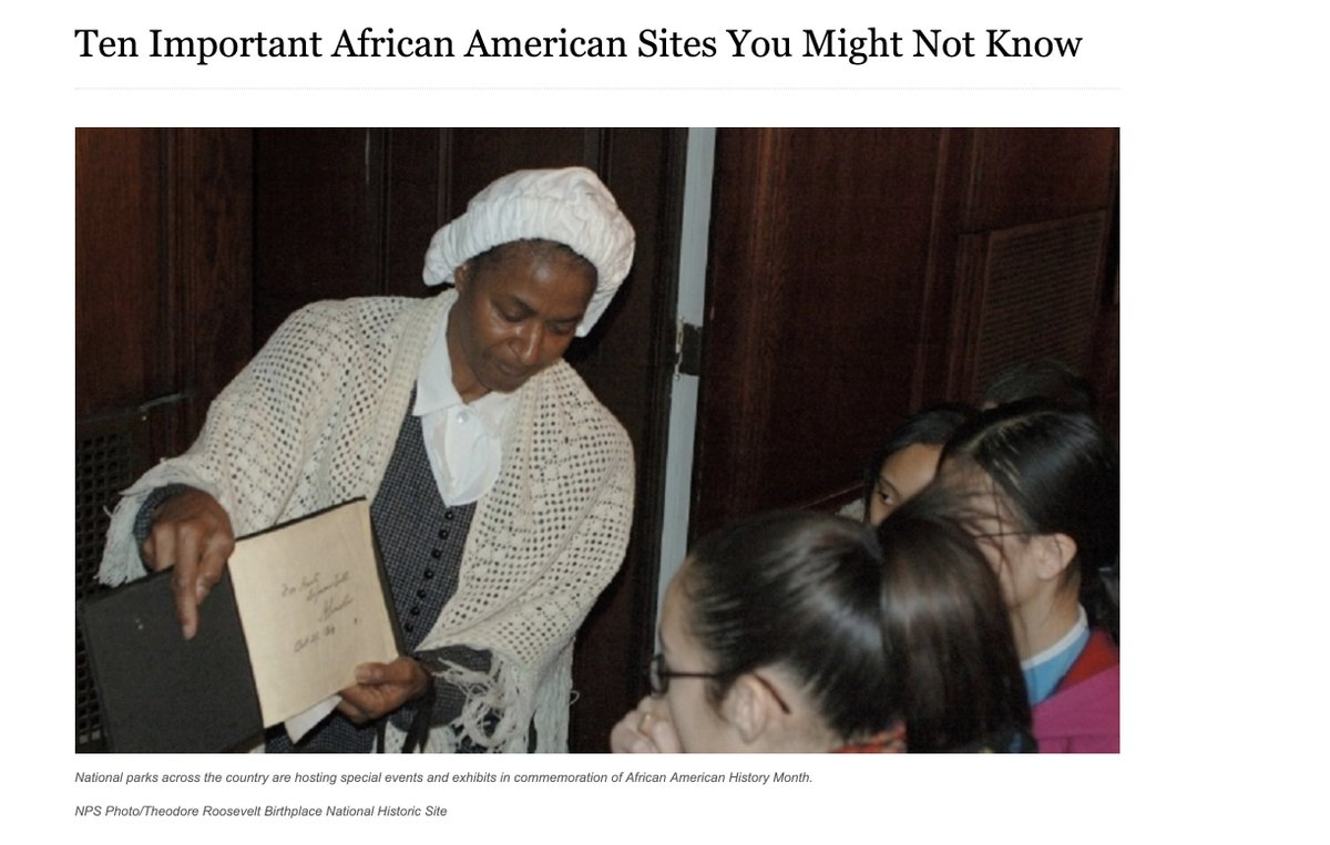 Ten important African American sites within the @NatlParkService you might not be aware of: https://www.nps.gov/orgs/1207/02-06-2017-african-american-history-month.htm… #BlackHistory #AmericanHistory #BlackHistoryMonth2019