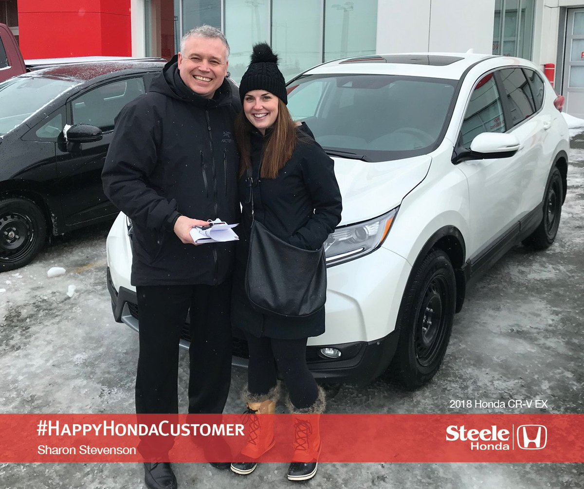 steele honda on twitter sales representative dwayne prince was so thrilled to hand the keys over to sharon stevenson s all new 2018 honda cr v ex this week her financial services manager steve twitter