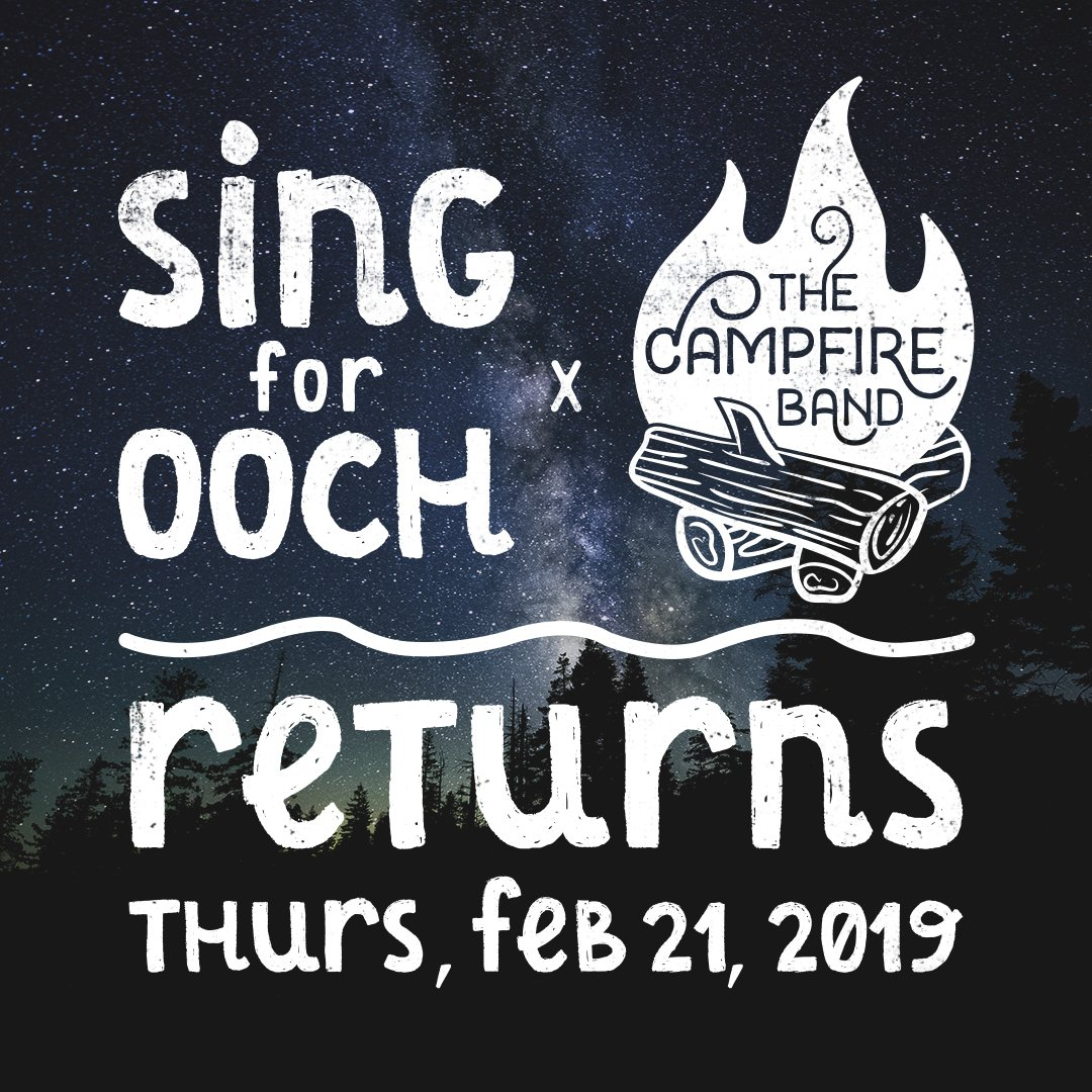 Sing for Ooch is back! Sing & dance your heart out to volunteer-based The Campfire Band on Feb 21 at Radio (formerly Adelaide Hall). Hosted by The Justice League, proceeds benefit Camp Ooch. Tix are $30. Visit http://www.singforooch.com for details and to purchase your ticket!