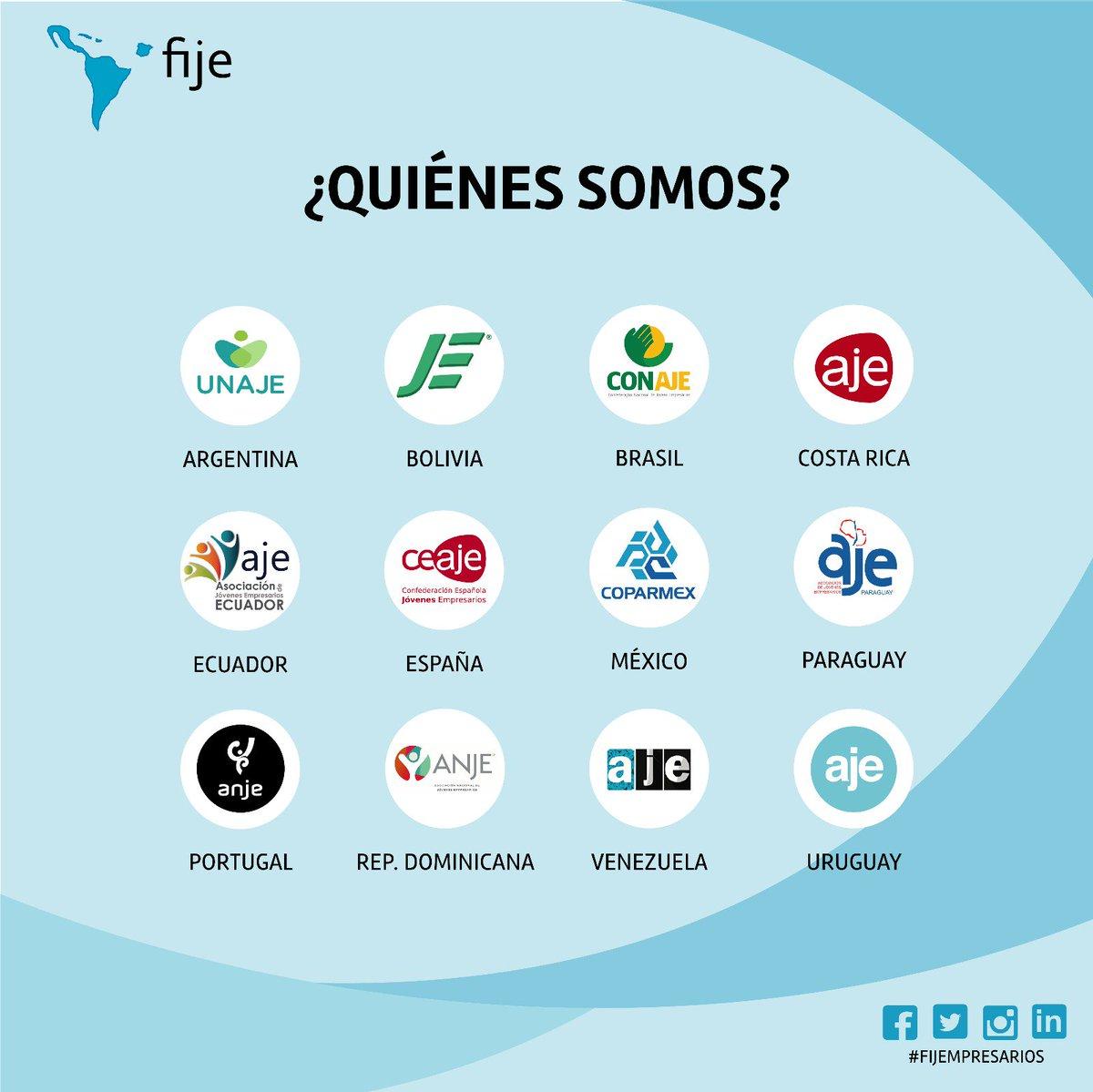 ¿Sabías que FIJE es una red compuesta por asociaciones de jóvenes empresarios de todo Iberoamérica? Conocé más ingresando a http://www.fije.org