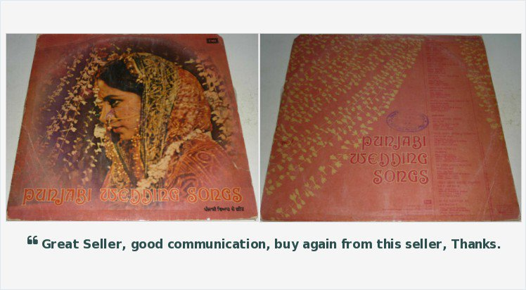 #PunjabiWeddingSongs - FOR SALE - BID NOW - #LP #Vinyl #Record #Bhangra #Punjabi #PunjabiFolk #BhangraLP #BhangraRecord #BhangraVinyl #PunjabiLP #PunjabiVinyl #PunjabiRecord #VinylForSale #NoorJehan #Tasawar #ZubedaKhanum #Zubeda #NaseemBegum #Lollywood  https://www.ebay.co.uk/itm/323679626019?ssPageName=STRK:MESELX:IT&_trksid=p3984.m1555.l2649 …