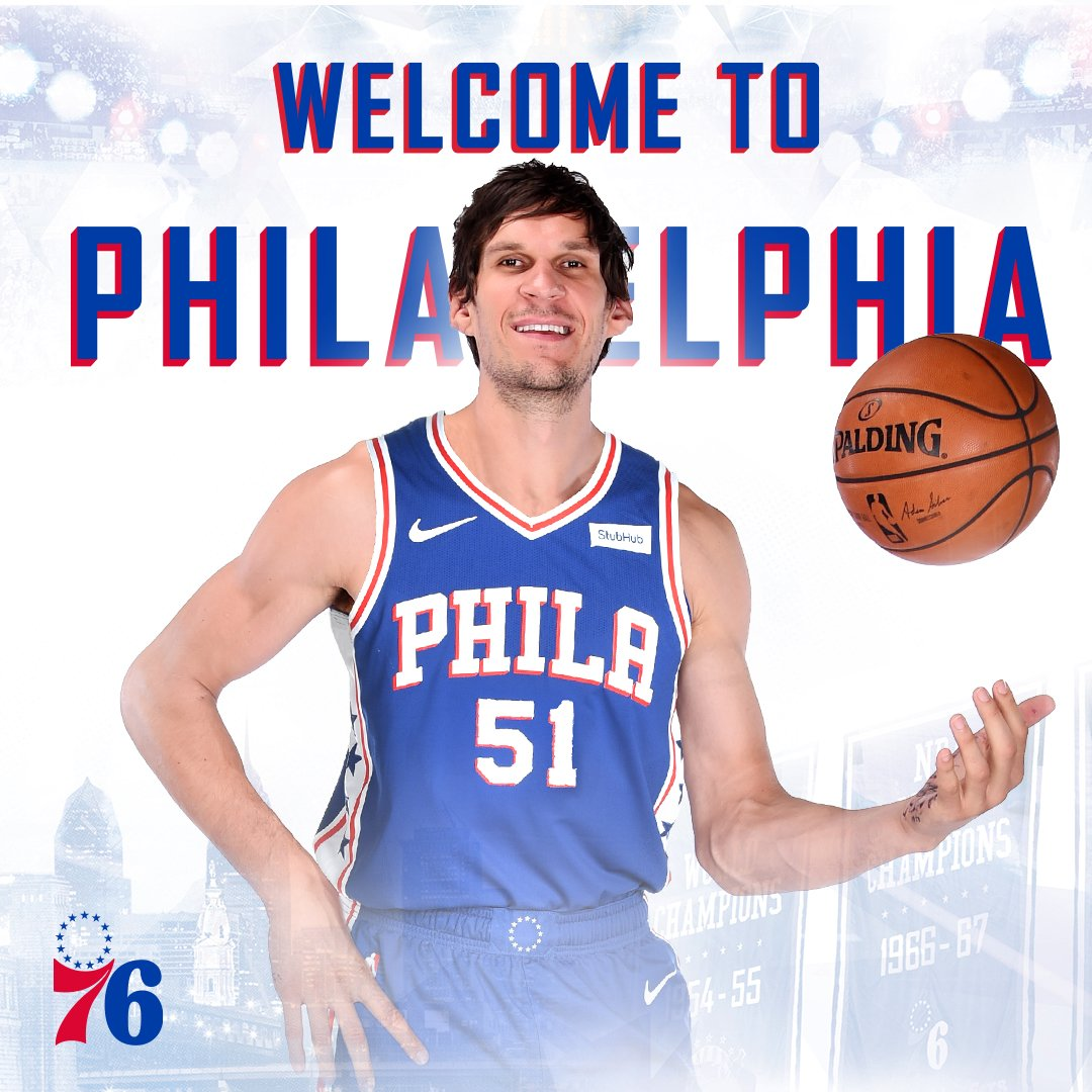 A man who needs no introduction...  Welcome to Philly, @BobanMarjanovic! #HereTheyCome