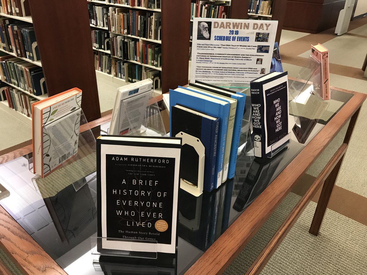 Darwin Day is coming up next week! Booth Library has you covered! Check out the schedule of events, as well as these materials on a variety of related topics. https://library.eiu.edu/refnews/?p=5137  @eiu @boothreference @BoothBTC @eiubiosci @EIU_Biology