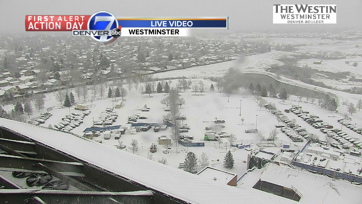 Much lighter on the west side of town right now!  Live look in #Westminster right now... #cowx @DenverChannel
