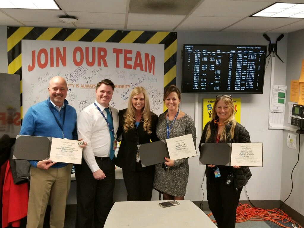 United DTW and G2 proudly received TSA recognition today for 2018 Regulatory Compliance. Hometown pride for sure! ⁦@weareunited⁩ #beingunited ⁦@DTWeetin⁩