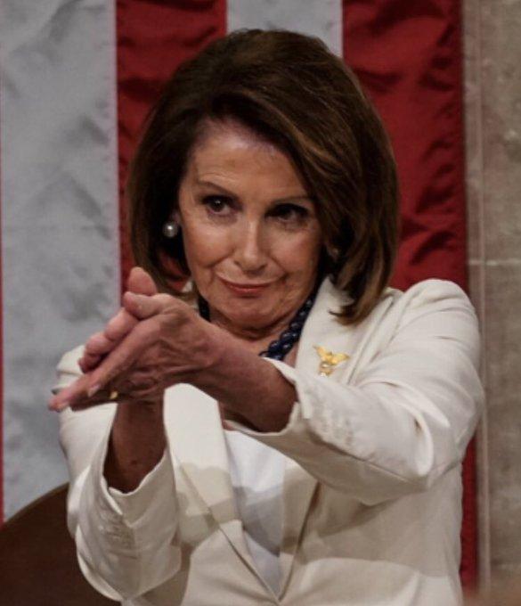Nancy Pelosi #youtriedit clap ??