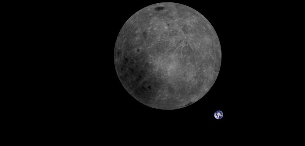 Need a total perspective shakeup?   That's the far side of the Moon and the Earth seen *in a single shot* by a Chinese lunar satellite.   Yeah.   https://t.co/NIHqdLFCMU