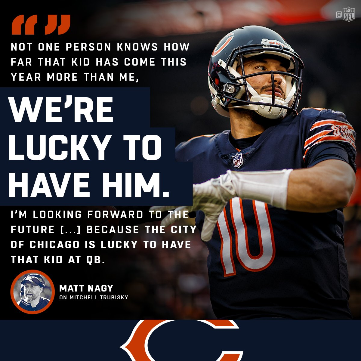 Wait until you see what @Mtrubisky10 does next. ��⬇️ https://t.co/Yp72qszTWW