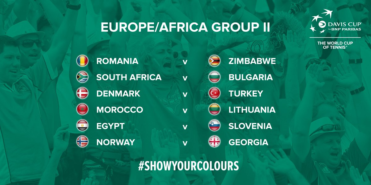 The  DavisCup by BNP Paribas Group II draw in full pic.twitter .com 4DbrMcN6ZS 9907537f2