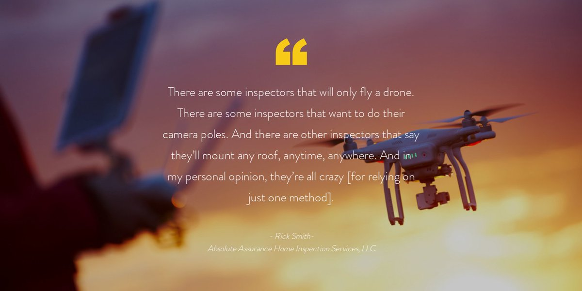 See why nine of your home inspector peers are using drones to diversify their approach.
