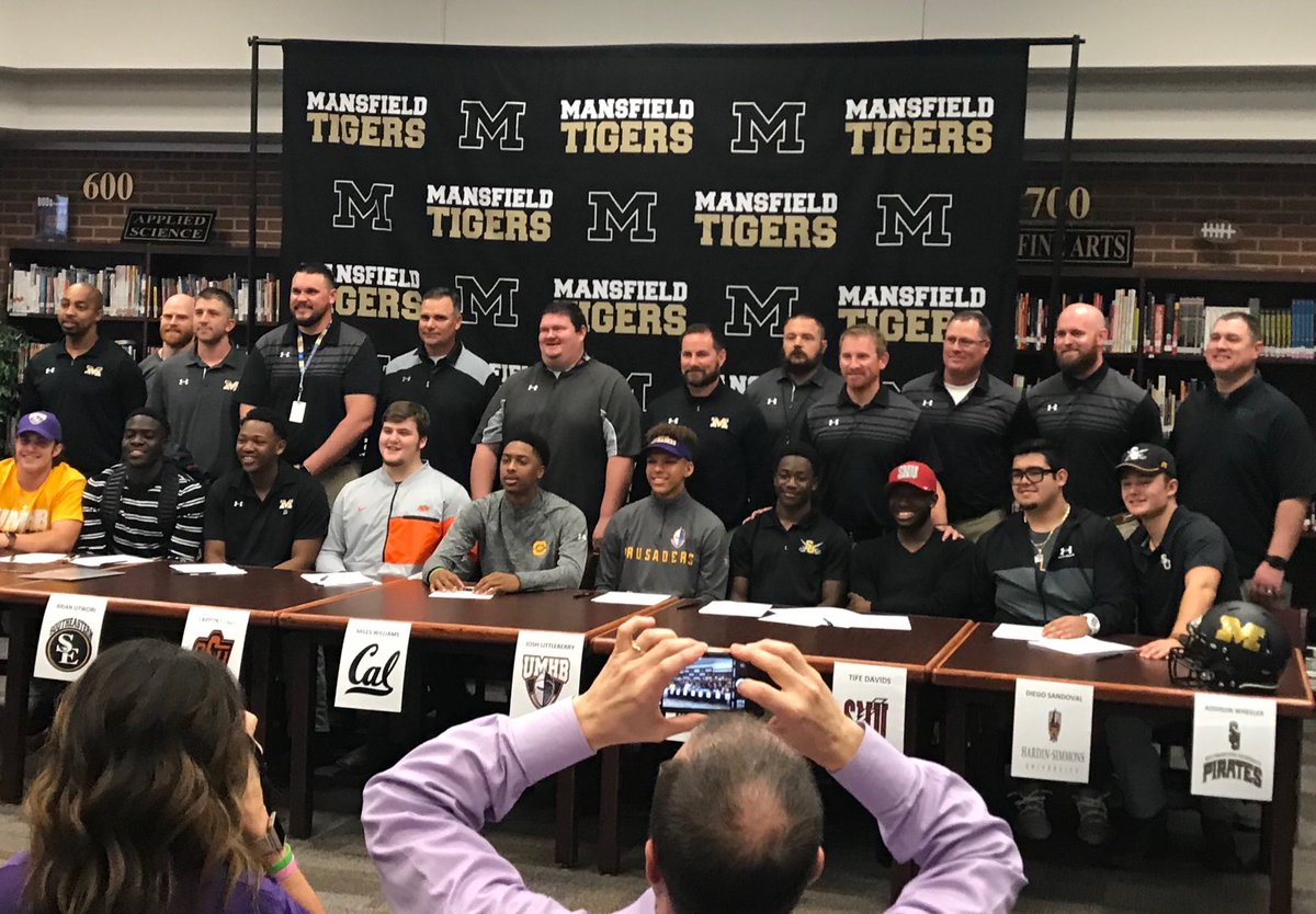 Congrats to all our MHS FB players going to play at the next level!