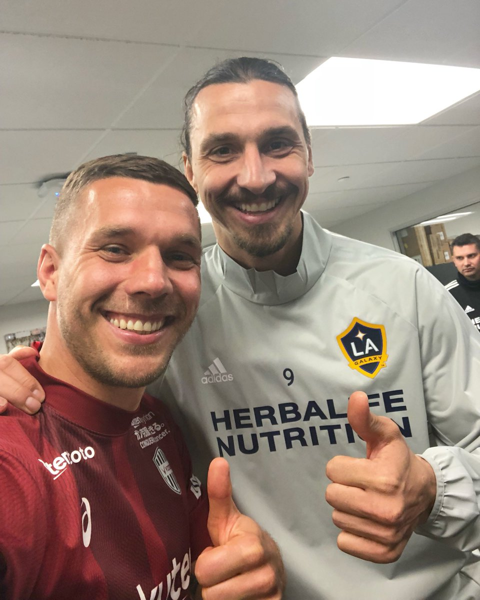 Two Lions is Better Than One. 👍🏻🦁 #Power #Zlatan #Poldi