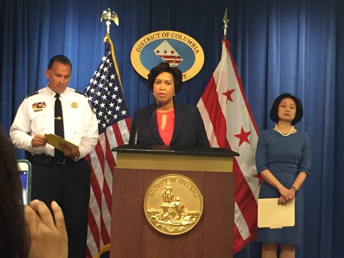 """Mayor Bowser and US Atty Jessie Liu announced DC will have more gun crimes prosecuted federally. That will mean longer prison terms for violent repeat offenders.  Liu called DC's 40% increase in homicides """"completely unacceptable."""""""