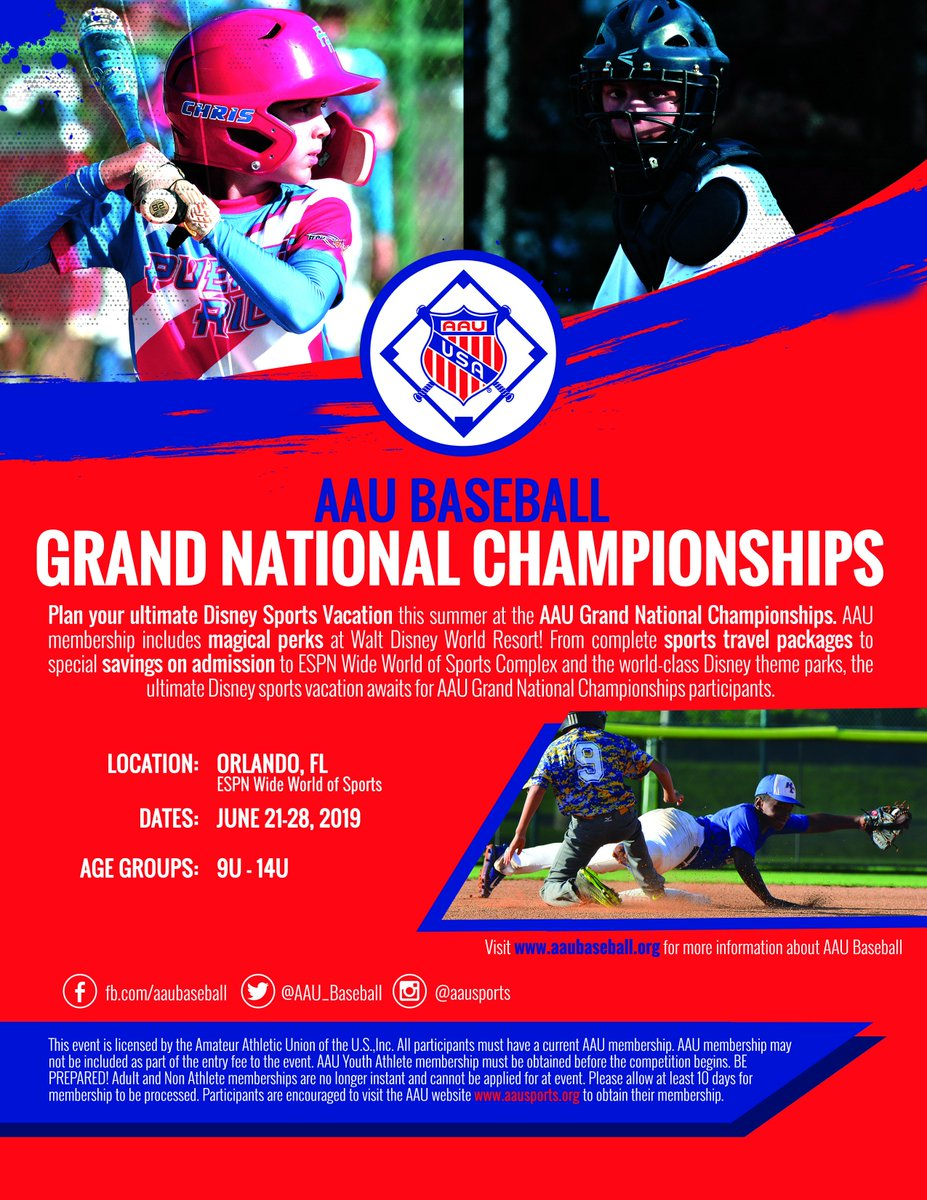 Dont Miss The AAU Baseball Grand Nationals