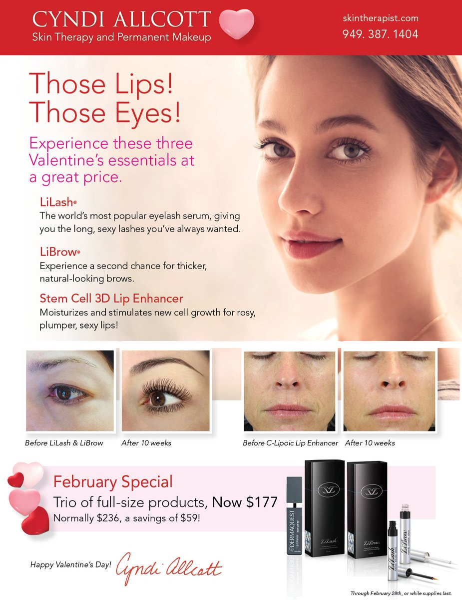 091734a4f51 ... #FebruarySpecial #ValentinesSpecial #skincare #skinproducts #Lilash # Librow #Dermaquest #sexylips #CyndiAllcott #skintherapistpic.twitter.com /B566RJKPgZ