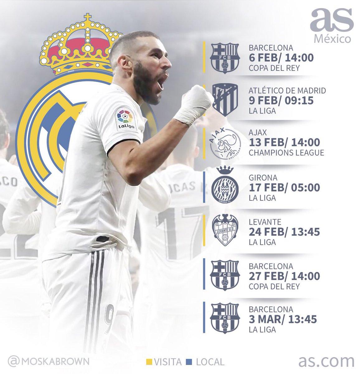 Calendario Real Madrid 2019.Moskabrown On Twitter Calendario Realmadrid Fcbarcelona Es