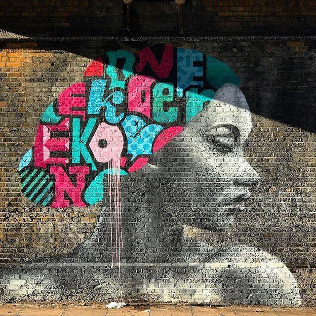 Loved spotting this beauty by @koeone_ over the weekend. So much art still to be discovered in #selondon ••• #sesussed #southlondonliving #koe1 #loveselondon #brockley #brockleyart  #mural #streetart #outdoorart #urbanart  #streetartlondon #streetart…