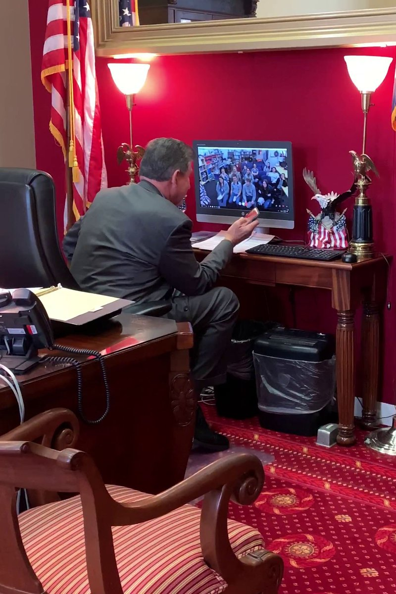 Sen. Manchin surprises students with phone call from Trump