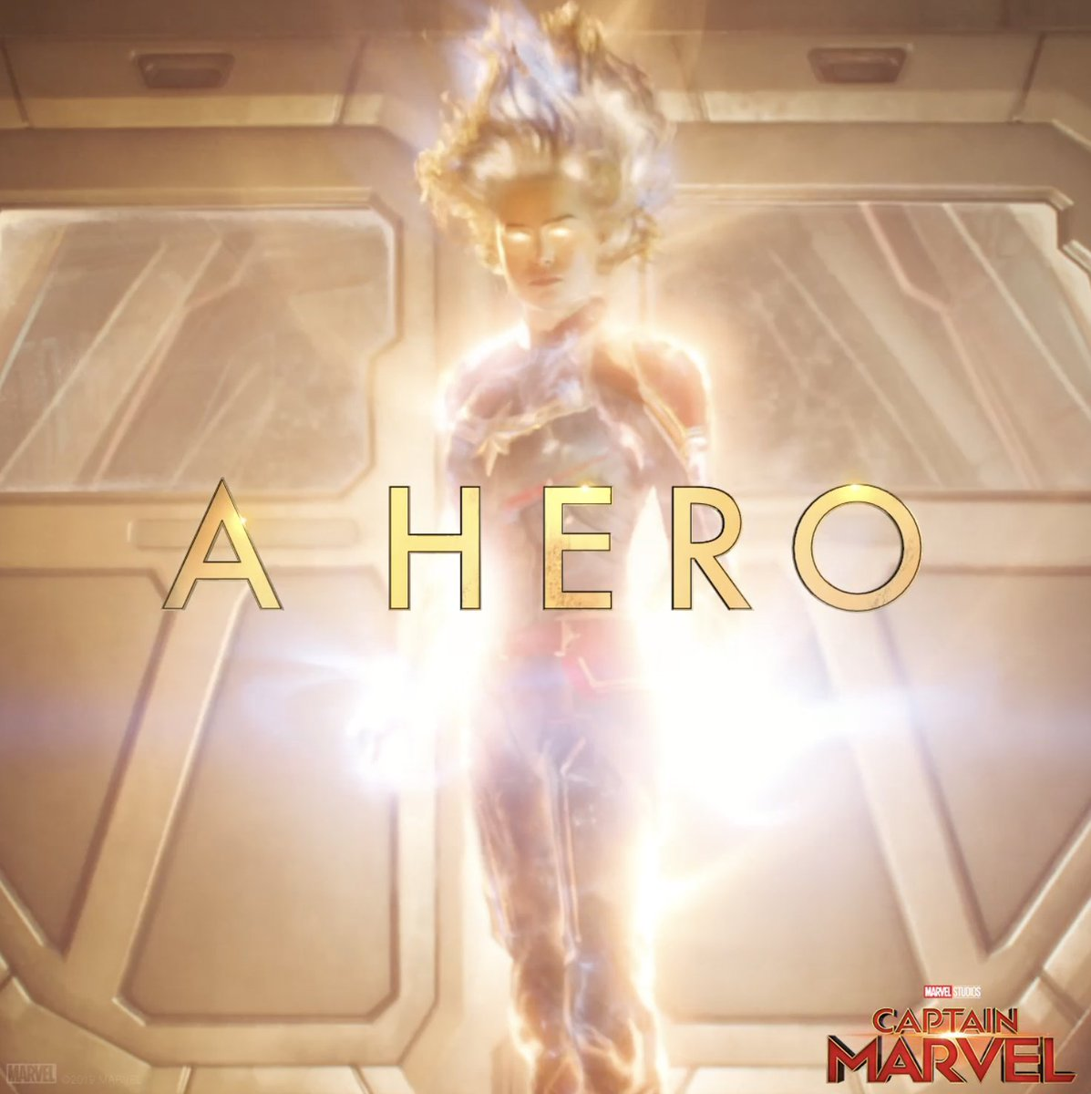 """""""She's just the beginning."""" Marvel Studios' #CaptainMarvel is in theaters March 8! Get tickets now: http://www.Fandango.com/CaptainMarvel"""