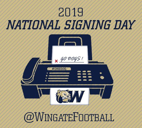 It's #NSD2019 ! @WingateFootball is getting ready to announce the newest signees down at Irwin Belk Stadium. Get over to the #WUFB Twitter account to follow along ! #OneDog