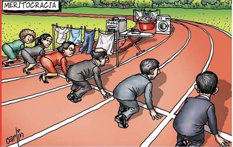 Resultado de imagen de mujeres y hombres corren viñeta