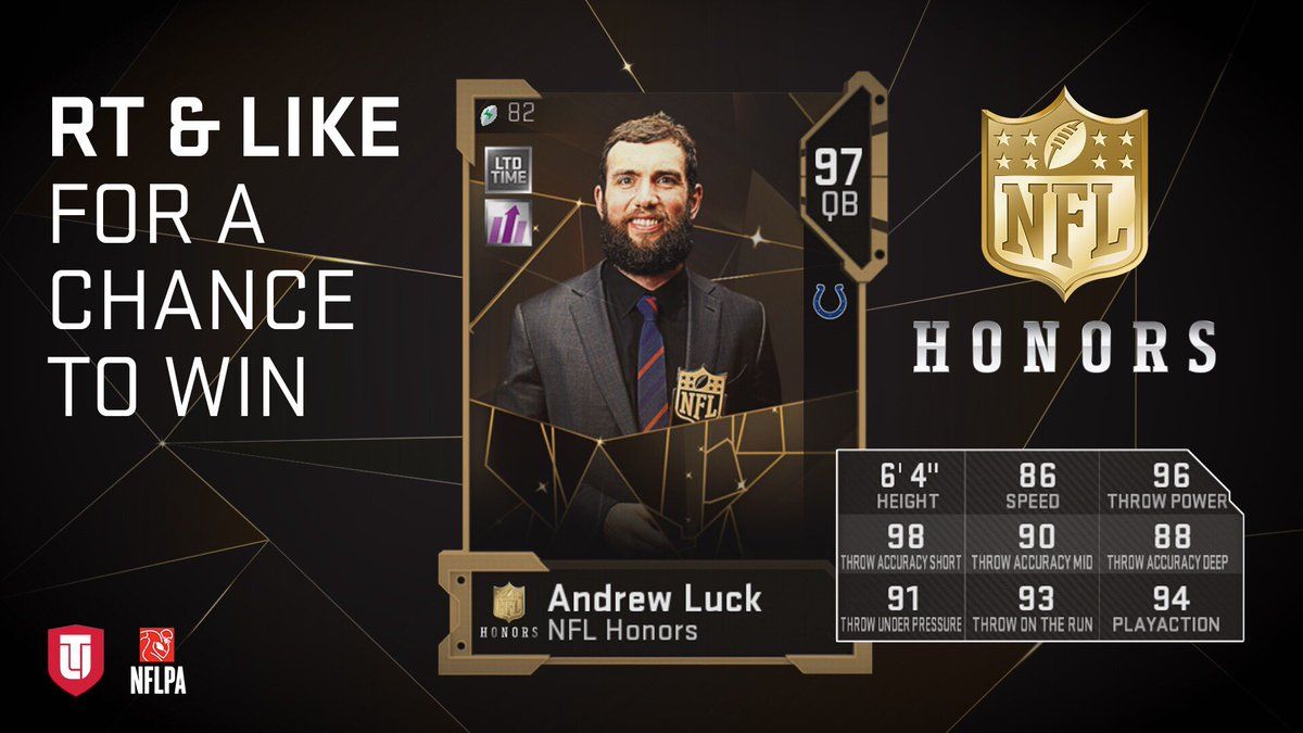 RT and LIKE for a chance at both of today's #NFLHonors #Madden19