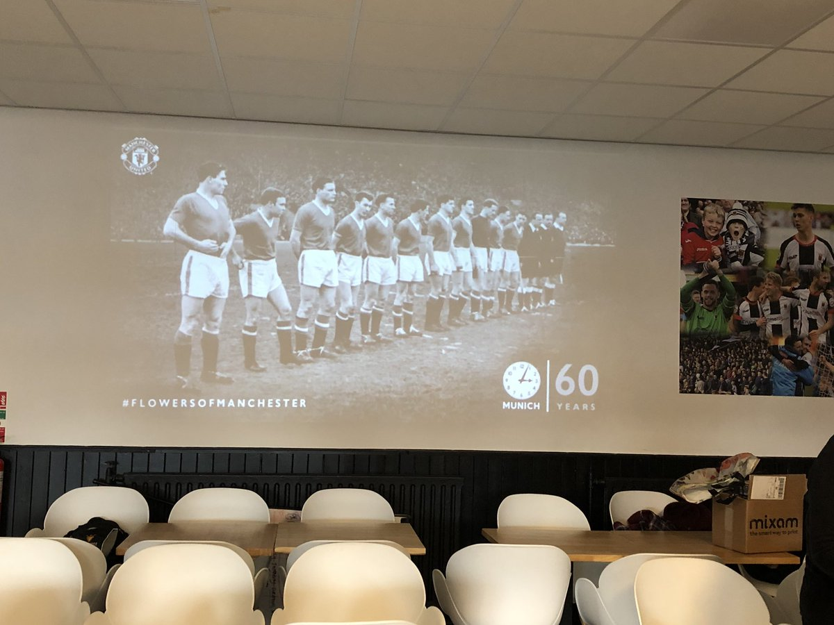Had a brilliant afternoon @SportsMemNet group hosted @chorleyfc remembering #Munich58 and Busby's Babes!