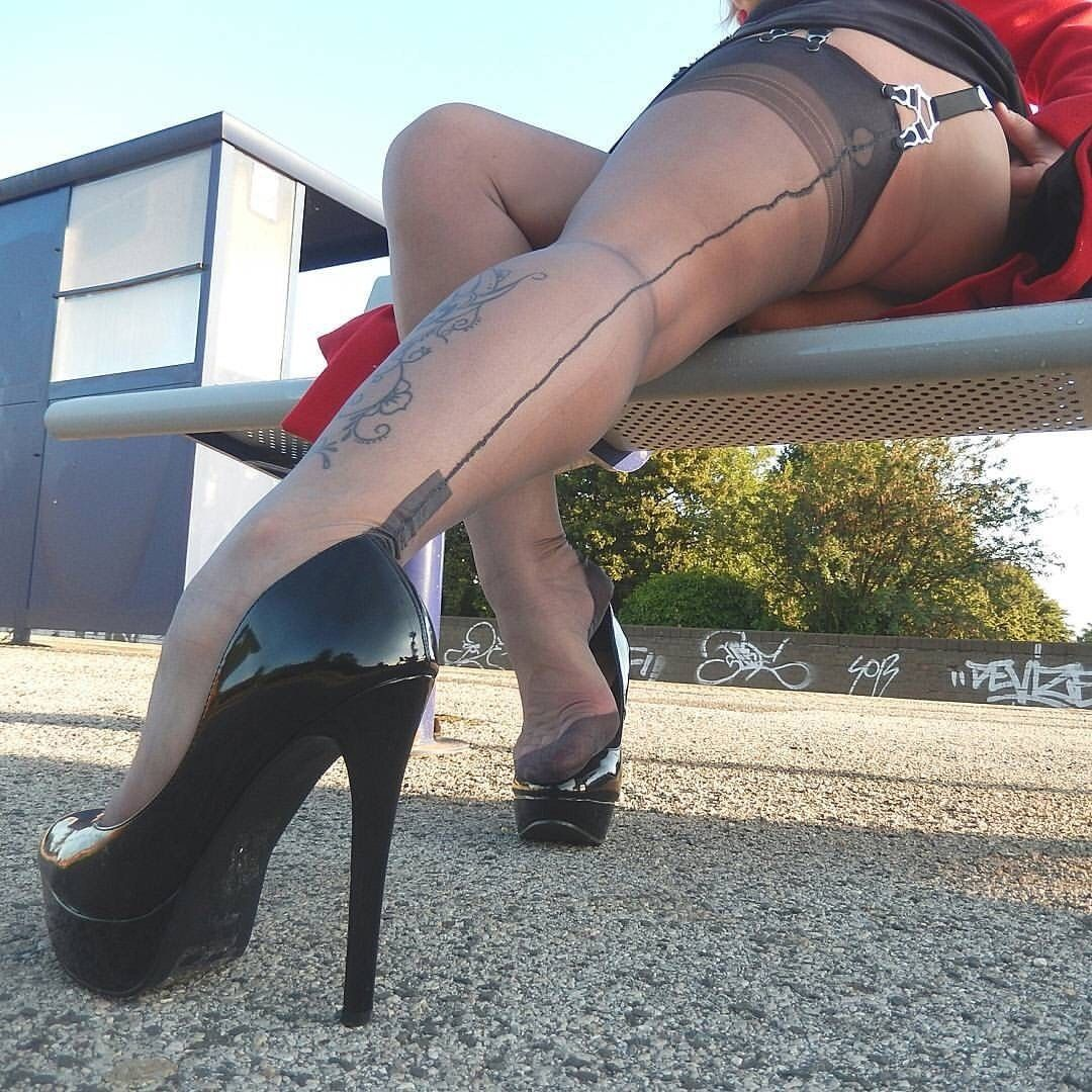 Rough sex pantyhose and high heel lovers sex