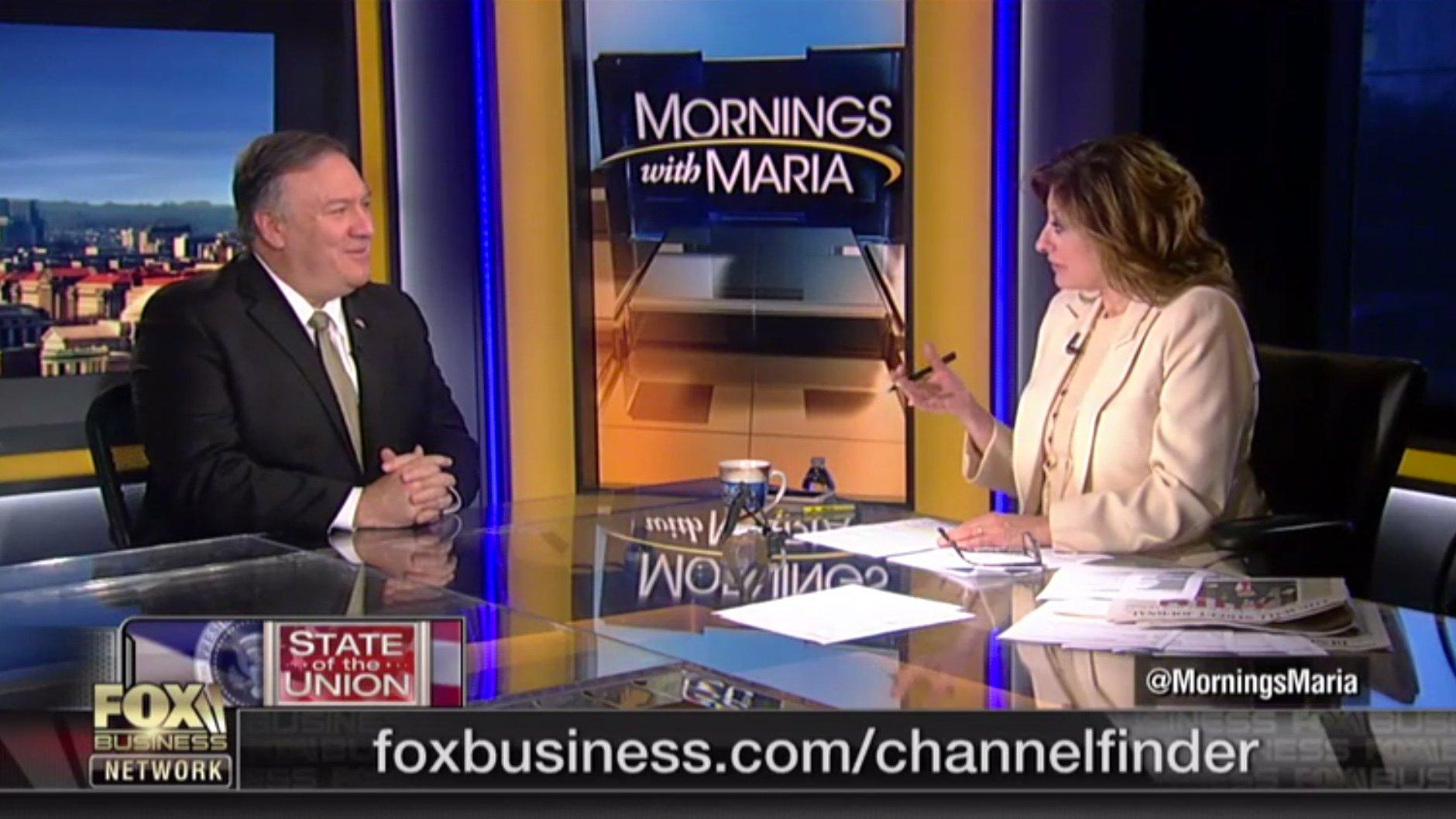 Secretary Pompeo's interview with Maria Bartiromo of Fox Business