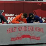 Image for the Tweet beginning: Shelby FB seniors commit to
