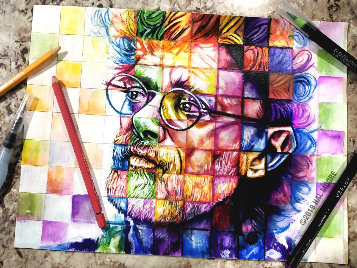 Terence Mckenna Art >> Art Of Hal Moore On Twitter A Portrait Of Terence Mckenna