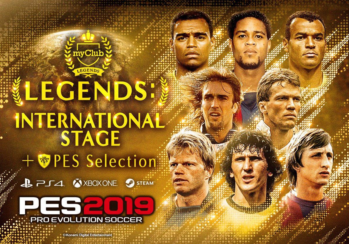 DyvywyYWsAIv5yO - Jugadores leyendas regresarán a Pro Evolution Soccer 2019