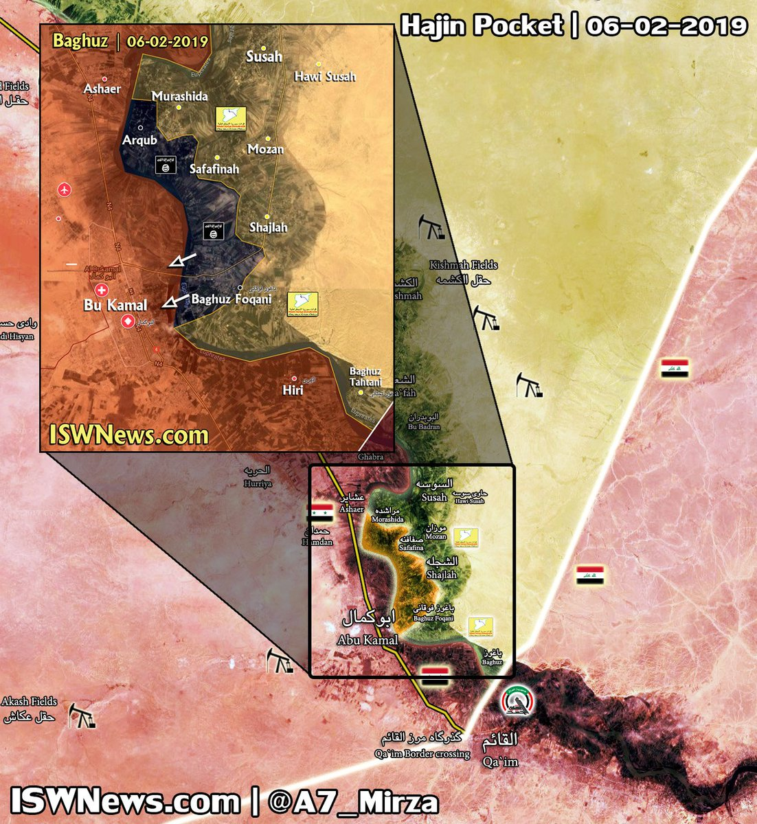 U Of Iowa Map.Iwn On Twitter Baghuz Area Military Map Saa Repelled Isis