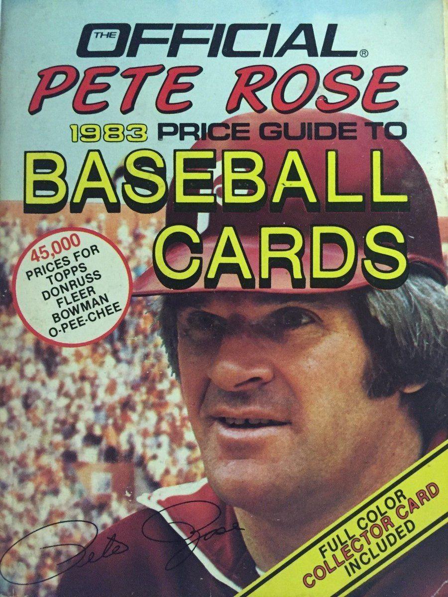 Sportspaper On Twitter Pete Roses Baseball Card Price