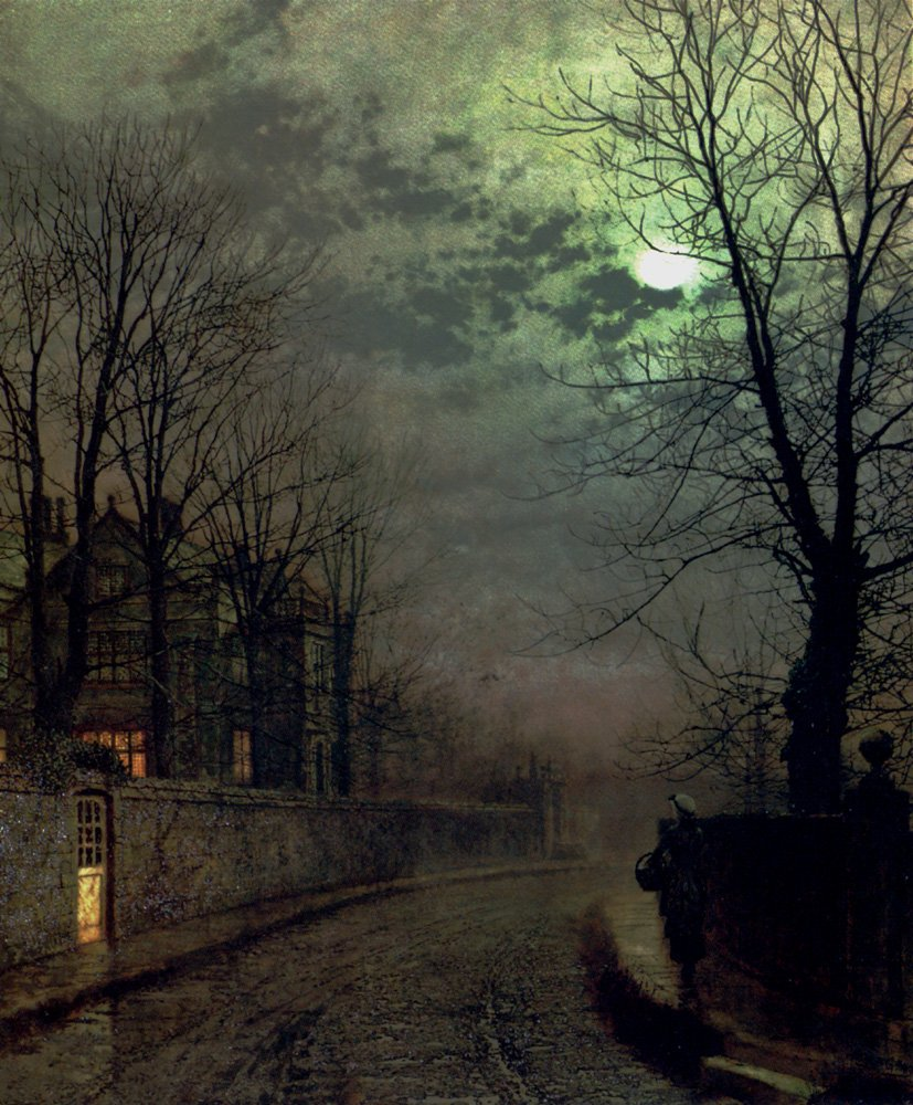 A Lane In Headingley, Leeds, 1881 #romanticism #grimshaw