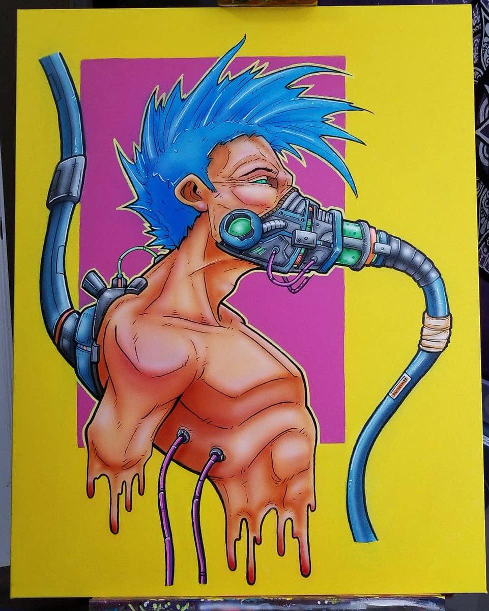 Original 100 bucks. 22x28 acrylic on canvas