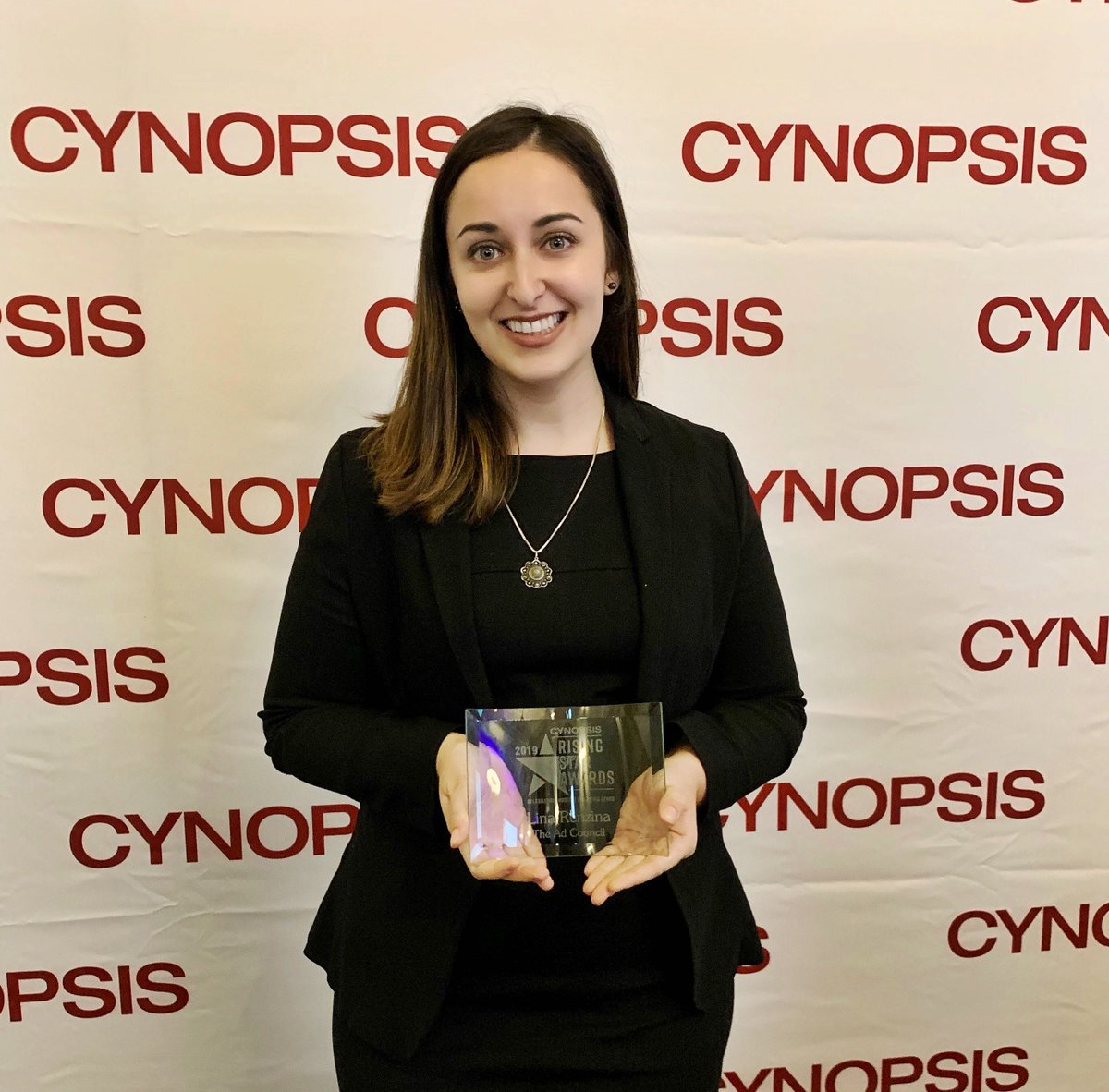 A big congrats to our very own Lina Renzina (@lina_xena ), Talent Relations and Partnerships Manager, for being a 2019 @CynopsisMedia Rising Star!! 🌟🎉