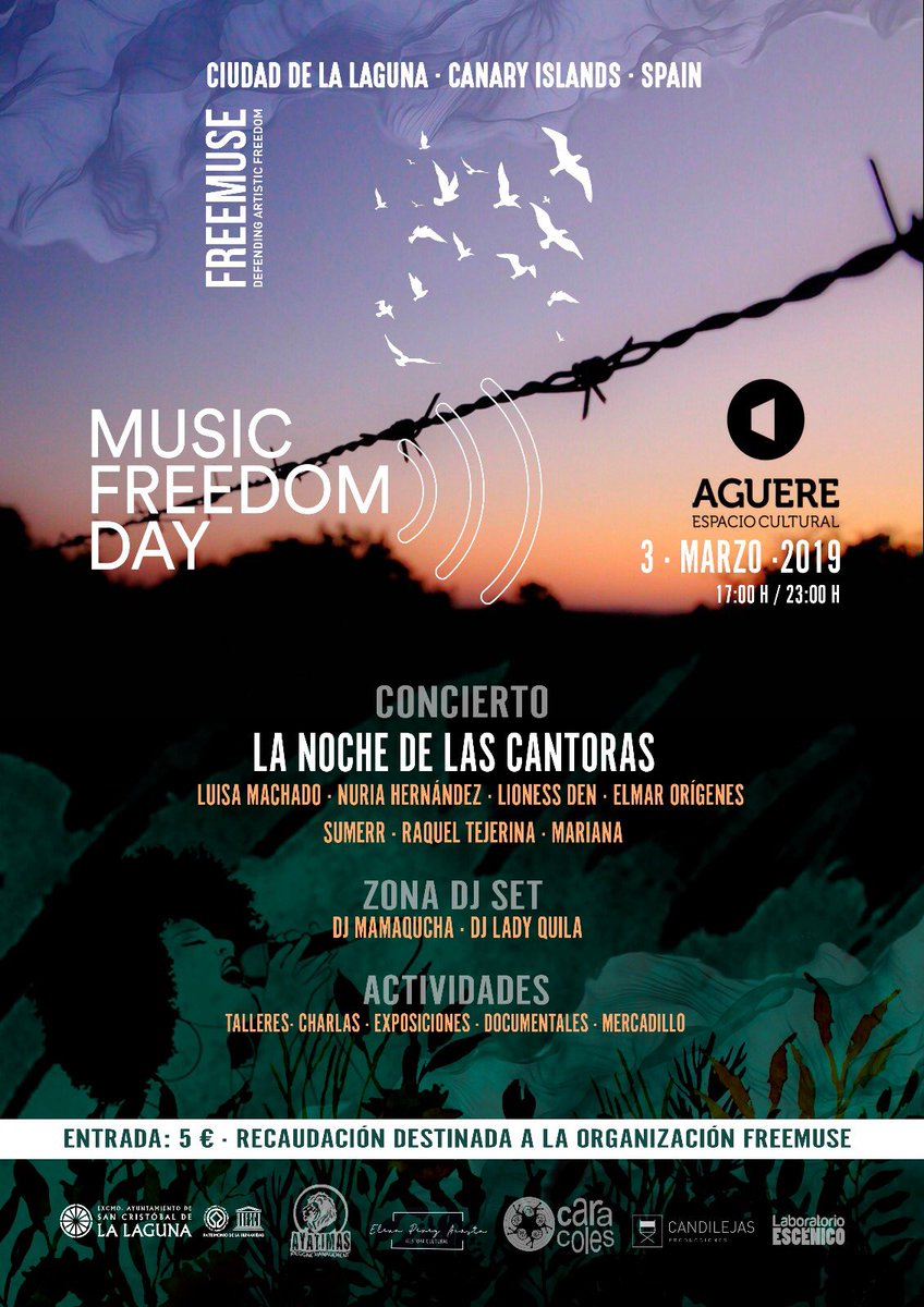 Check out the awesome line-up and activities for #MusicFreedomDay 2019 in Tenerife, Canary Islands!