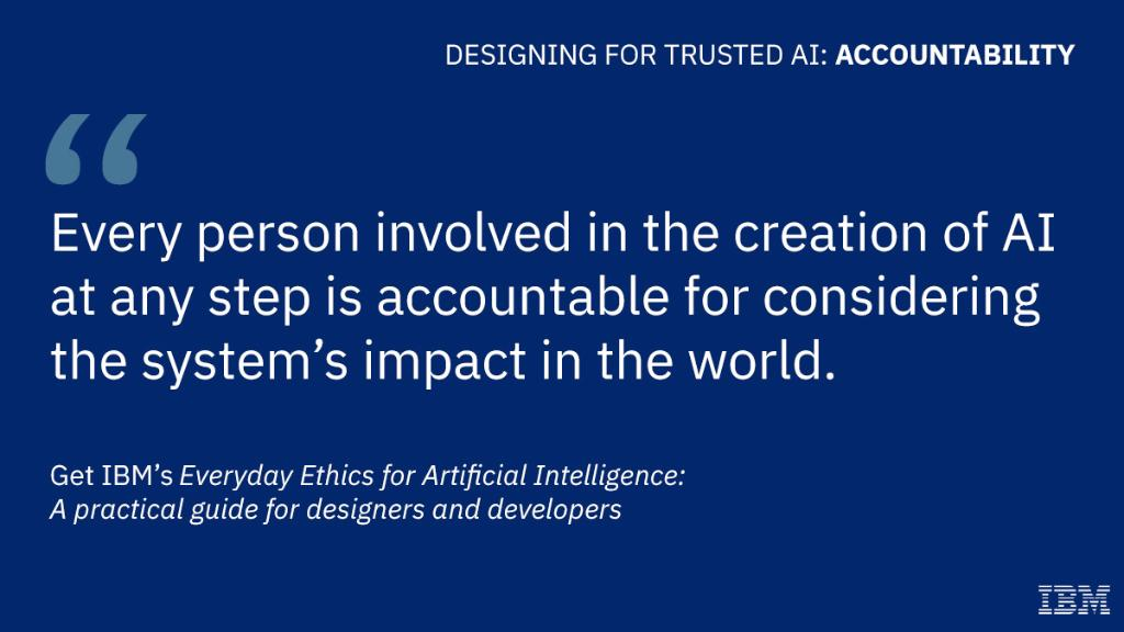 IBM's Everyday Ethics for #AI provides an actionable guide for designers and developers to get intentional about ethics: https://ibm.co/2PFzjir @adam_cutler @milenapribic #AIEthics
