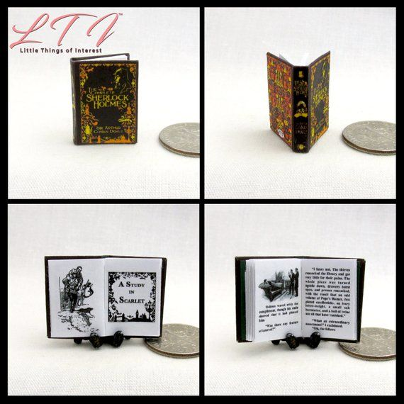1:12 MINIATURE BOOK SHERLOCK HOLMES EMPTY HOUSE ILLUSTRATED