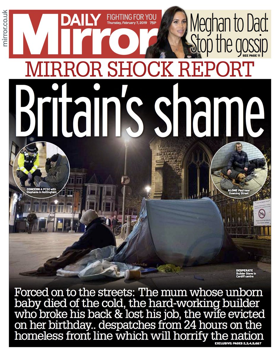Tomorrow's front page: Britain's shame #tomorrowspaperstoday  https://www.mirror.co.uk/news/voice-mirror-government-serious-tackling-13962589…