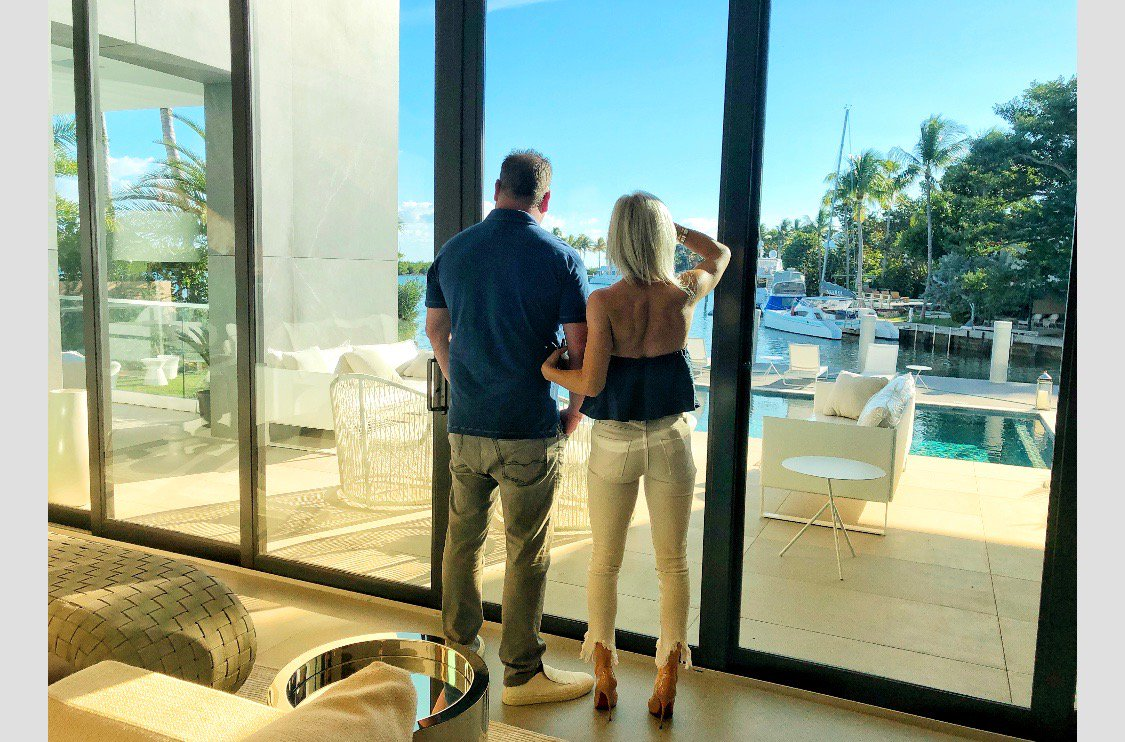 About today...house hunting with my man.