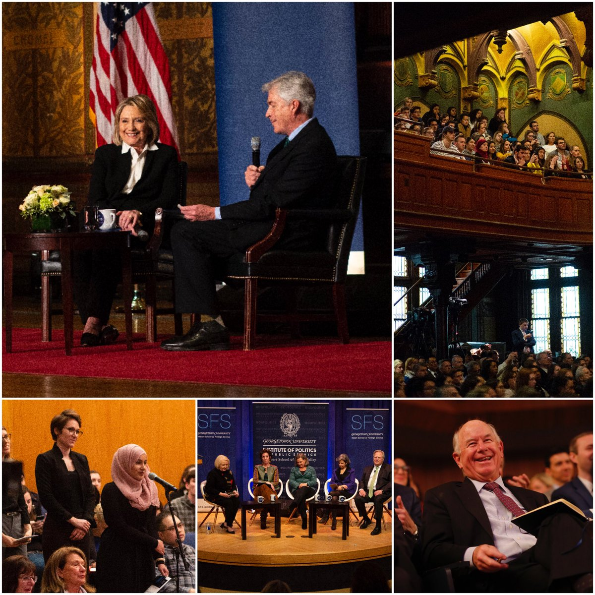 Great to have @HillaryClinton on campus for a full day of discussions on the future of diplomacy. Her message: our globally engaged @georgetownsfs students are needed more than ever. Thanks for a great event w/ @GUPolitics!
