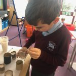 Year 3 were making fossils earlier today!