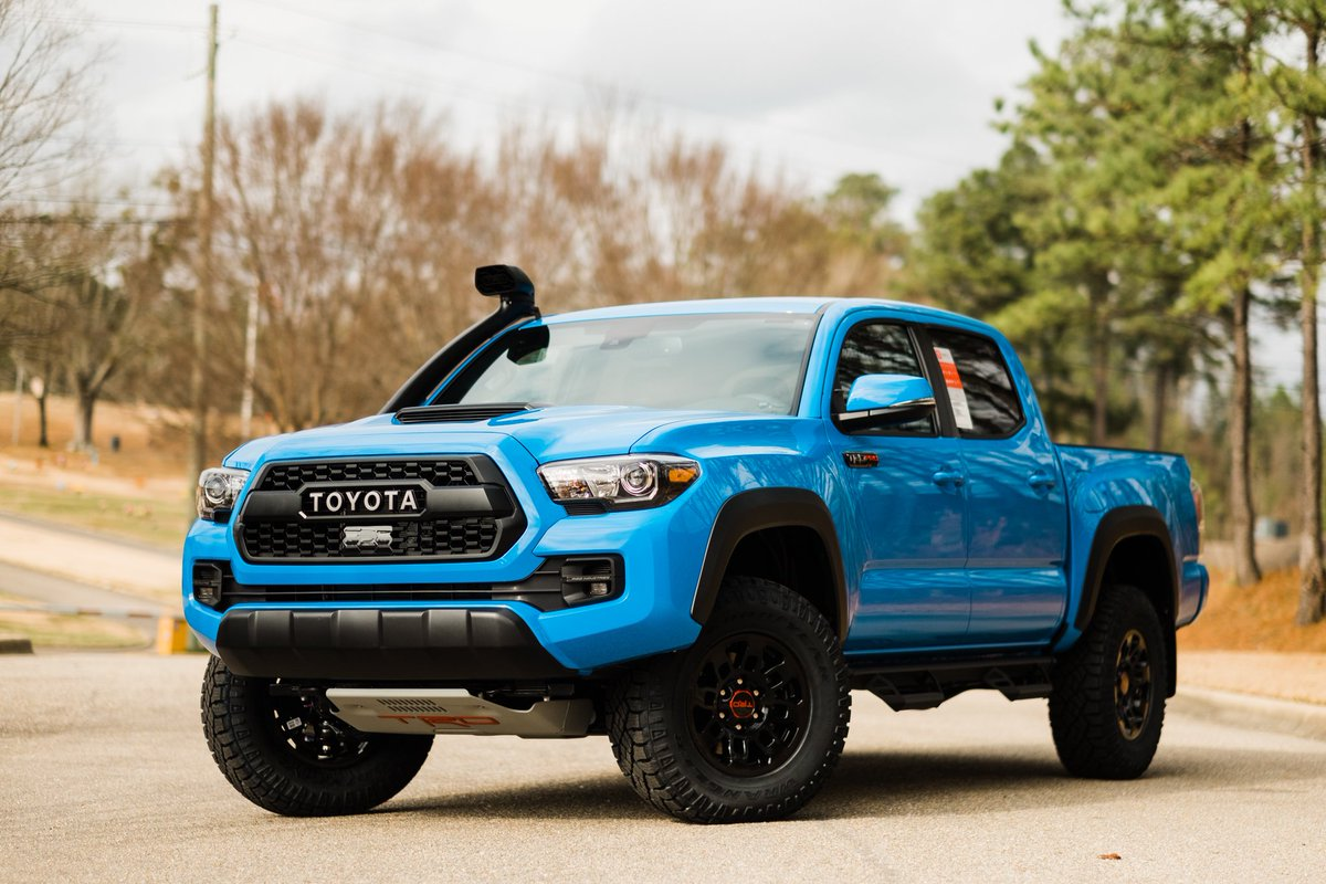 Hoover Toyota On Twitter Look What Just Arrived Check Out Our First Voodoo Blue 2019 Trd Pro Toyota Tacoma With The Trd Desert Air Intake Fresh Off Of The Truck So Come