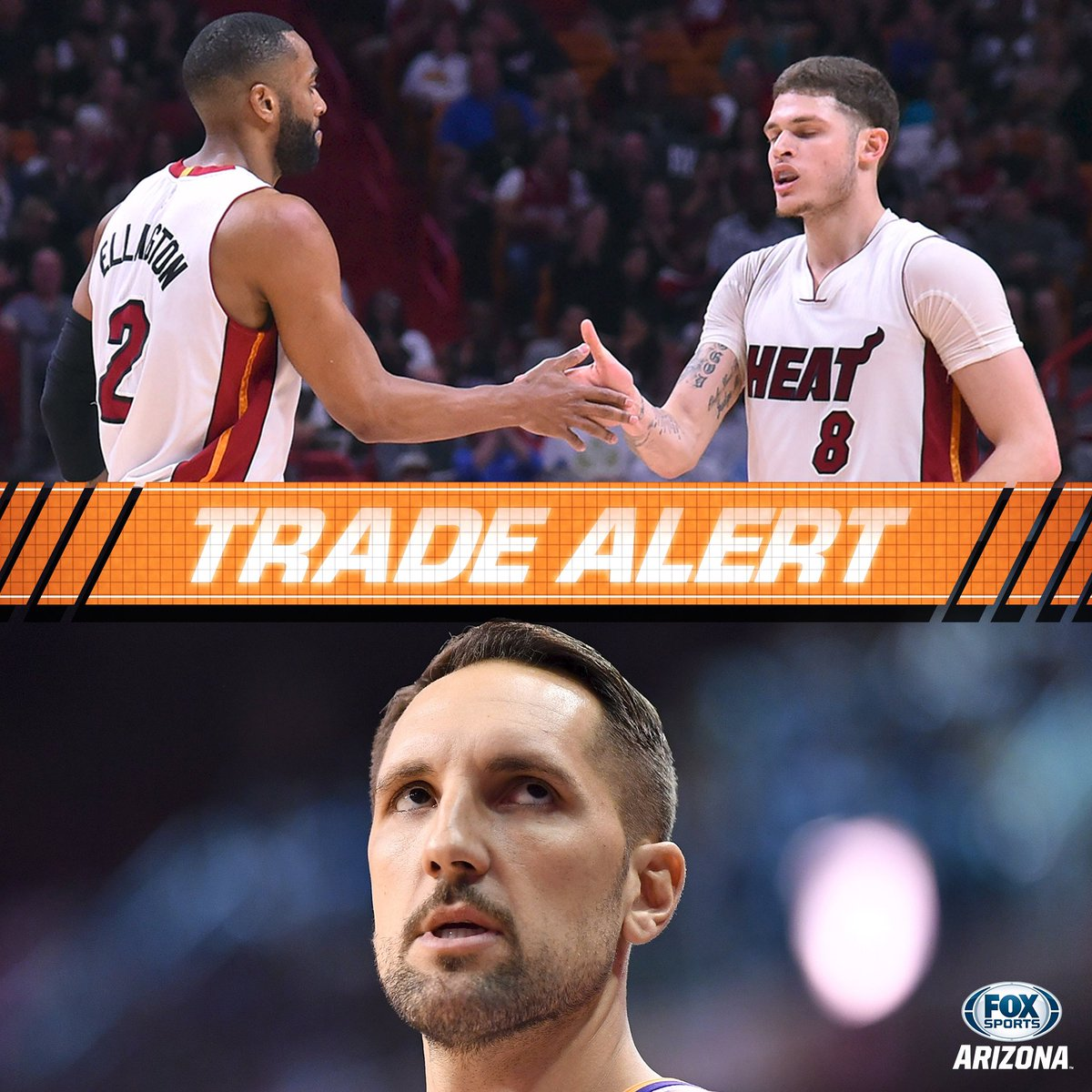 The #Suns acquire guards Wayne Ellington and Tyler Johnson for the #Heat for forward Ryan Anderson. #NBATwitter