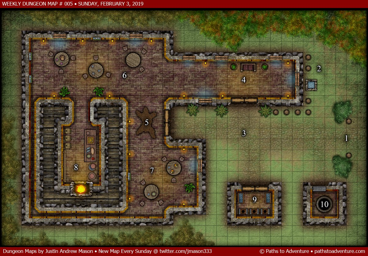 on dungeon maps