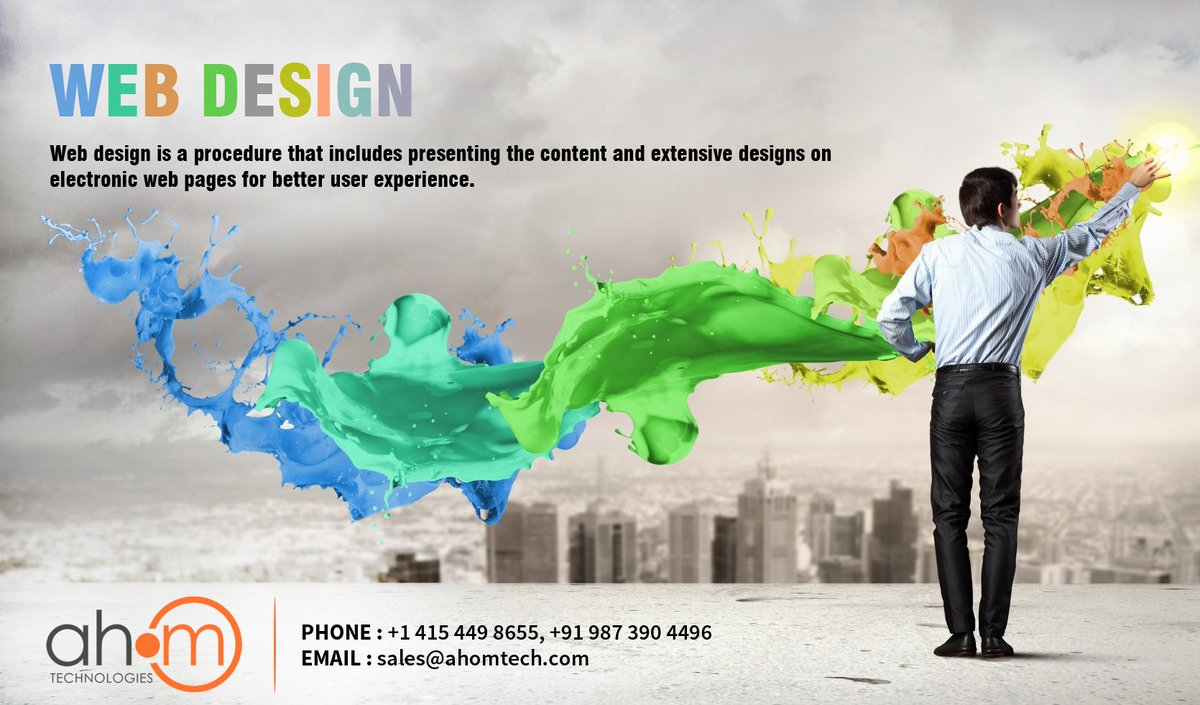 Web design includes many different skills for the production and maintenance of websites. Read More at : https://www.ahomtech.com/web-design-services-india/… Contact Us : +1 415 449 8655, +91 987 390 4496 Email Us : sales@ahomtech.com #Layout #Color #Graphics #Fonts #Content #WebDesign #Ahom #AhomTech