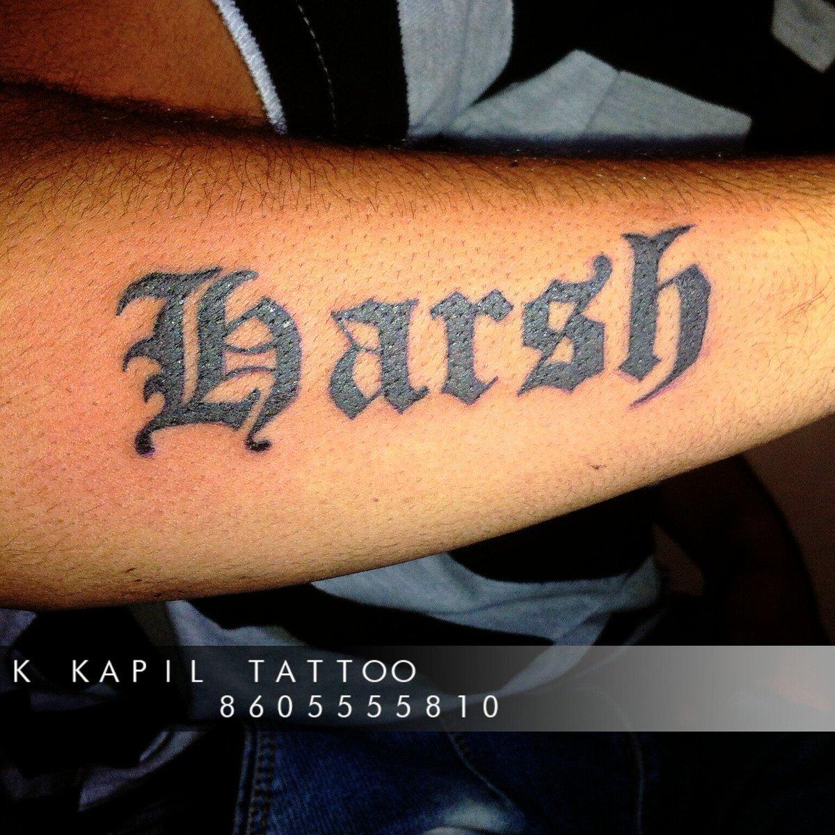 b044a07e2 harsh #name_tattoo #bold_font #men #simple #intez #tattoo #design ...